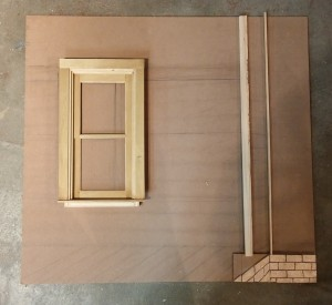 Window is built and brick work applied
